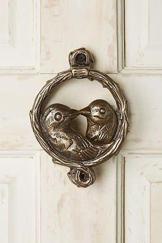 Anthropologie Of A Feather Door Knocker Unique Doors, Vintage Doors, Door  Furniture, Farmhouse