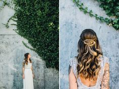 Braided bun + a Sarah Seven dress