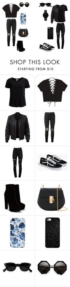 """""""....."""" by caitlinkansil on Polyvore featuring Object Collectors Item, LE3NO, AMIRI, Yves Saint Laurent, J.Crew, Chloé and CLUSE"""