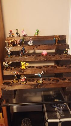 Amiibo wood display