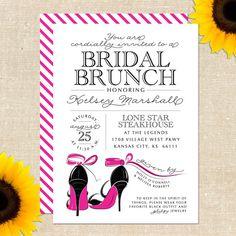 Stiletto Bridal Shower Invitation DIY by YellowBrickGraphics, $18.00