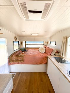 How To Renovate A Vintage Caravan: The Inside - A step by step guide to how we transformed the inside of our vintage Viscount Royal caravan into our perfect little beach house on wheels. Caravan Renovation Diy, Caravan Interior Makeover, Diy Caravan, Caravan Living, Retro Caravan, Camper Interior, Caravan Ideas, Caravan Home, Caravan Inside