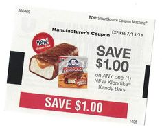 NEW Klondike Kendy Bars ~ 07/15/2014 ~ $1.00 on ONE (1)