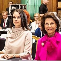 #news Queen Silvia and Princess Sofia today