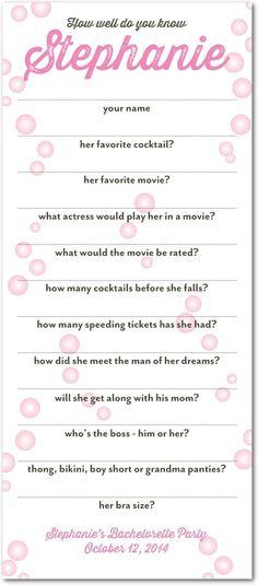 Bridal Shower Games He Says She Says Printable by olivepresspaper - bridal shower checklist
