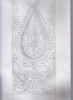 Embroidery Neck Designs, Embroidery Sampler, Embroidery Art, Embroidery Stitches, Embroidery Patterns, Leather Tooling Patterns, Pencil Design, Crochet Flower Patterns, Paint Designs