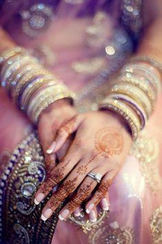 Bridal Bangles  see more inspiration @ http://www.ModernRani.com