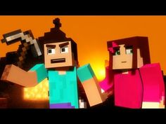 """""""Mineshaft"""" - A Minecraft Parody   My boyfriend and I do this, we play together and have a house and everything.  He saves me from monsters <3"""