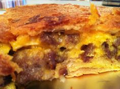 This Mommy Cooks Dinner: Breakfast for Dinner --Sausage, Egg & Cheese Casserole