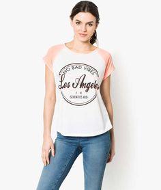 Tee shirt manches courtes Blanc