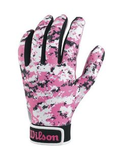 Wilson Youth Special Forces Receivers Gloves Pink Camouflage Medium    See  this great product. 36024601f