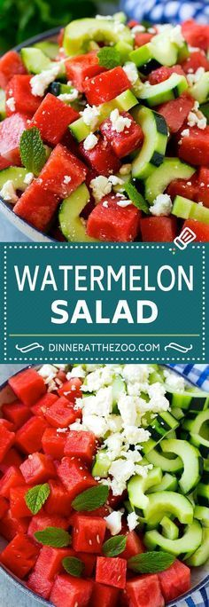 The Rise Of Private Label Brands In The Retail Meals Current Market Watermelon Salad Recipe Watermelon Feta Salad Watermelon Cucumber Salad Best Salad Recipes, Cucumber Recipes, Watermelon Recipes, Cucumber Appetizers, Cucumber Watermelon Salad, Watermelon Healthy, Greek Cucumber Salad, Healthy Snacks, Gastronomia