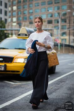 Before Edun Street Style Street Fashion Streetsnaps by STYLEDUMONDE Street Style Fashion Photography