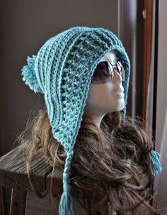 CROCHET PATTERN-Tallulah Tassel Hood, Crochet hat pattern, hoodie pattern, teen crochet pattern, hooded pattern