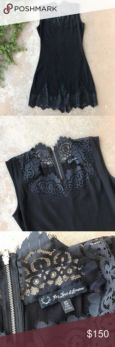Rare For Love & Lemons Sexy Black Lace LBD Dress For Love and Lemons little black dress with a gorgeous lace hem and neckline. Size small. In excellent condition, like new! For Love And Lemons Dresses