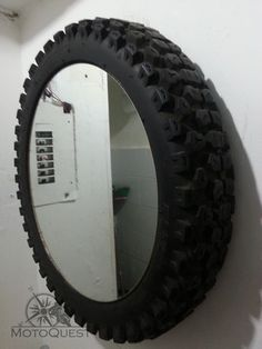 tire framed mirror - Google Search