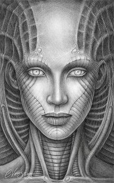 Nameless by e-volos on DeviantArt Comic Art, Art Photography, Psychedelic Art, Sketches, Art Drawings, Art, Dark Art, Hr Giger Art, Beautiful Art
