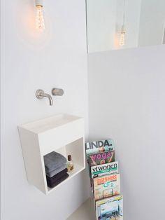 Sant Jordi II Toilet basin & Monoset 03 cold water tap by COCOON | modern bathroom inspiration bycocoon.com | minimalist bathroom design products for easy living | bathroom design & renovation | villa & hotel design projects | Dutch Designer Brand COCOON
