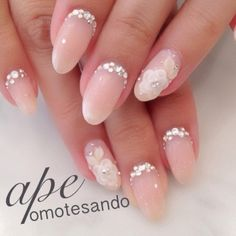 Gold and White Wedding. Manicure, Pedicure, Nails. Bridal nail