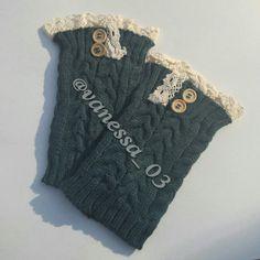 Crochet Lace Trim Boot Topper