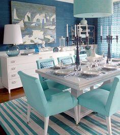 Soft Blue & White