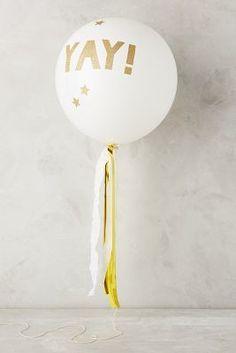 Anthropologie Glittering Balloon Kit