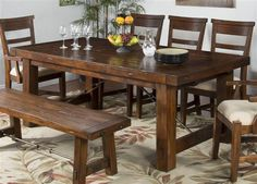 Shop Sunny Designs Tuscany Medium Brown Rectangle Extension Table with great price, The Classy Home Furniture has the best selection of Dining Tables to choose from Benchcraft Furniture, Extension Table, Tuscany, Mocha, Extensions, House Ideas, Dining Table, Collections, Decorating