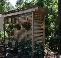 Small Pergola Design, Pictures, Remodel, Decor and Ideas Privacy Landscaping, Backyard Privacy, Backyard Patio, Landscaping Ideas, Backyard Ideas, Pergola Designs, Patio Design, Wall Design, Screen Design