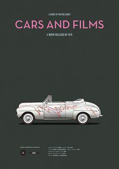 Grease (1978) ~ Minimal Movie Poster by Jesus Prudencio ~ Cars And Films Series