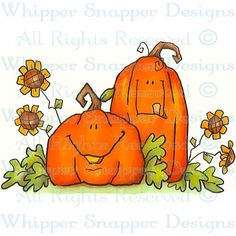 Pumpkin Pair - Halloween Images - Halloween - Rubber Stamps - Shop