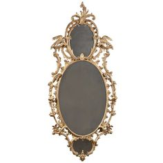 Three Plate Rococo Oval Mirror | From a unique collection of antique and modern wall mirrors at http://www.1stdibs.com/furniture/mirrors/wall-mirrors/
