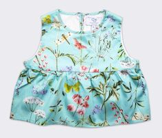 Fabric and styling inspiration for the Oliver + S Butterfly Blouse and Skirt pattern.