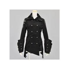 S-inc e-shop Sixh. IBI/ゴスト Sixh. キマイラエンペラージャケット (CSD11-J014 BK/M) ❤ liked on Polyvore featuring outerwear, jackets, h.naoto, sixh and tops