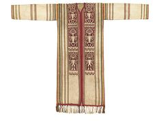 Iban people, Shaman's or bard's robe [baju pilih] early 20th century Sarawak, Borneo, Malaysia Textile, cotton, natural dyes Technique: supplementary weft weaving