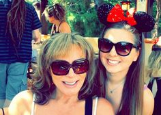 Disneyland with the famous Thea Tina!!  #Disneyland #foolingmothernature #athenakarsant @athenakarsant #mouseears #graduation #disneygram by kt_mou