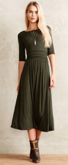 pretty jersey midi dress #anthrofave http://rstyle.me/n/s49pdr9te