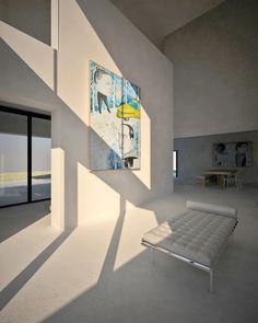 single house, Chania, Greece, Ivi Diamantopoulou+Yiorgos Papazoglou, design for ACRM SA (painting by Vasilis Selimas)
