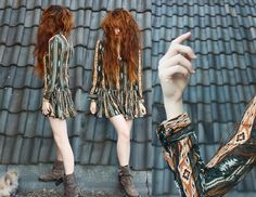 Nadia Esra - Elf Sack Dress, Boots, Melle - Elfsack. i am the elf, who are you?