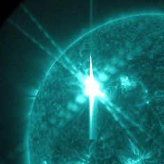 Not magical, but a rather sinister bright solar flare.
