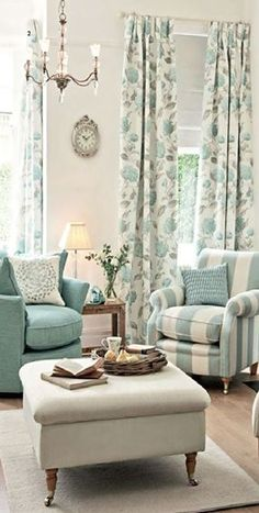 Family Room Designs, Furniture and Decorating Ideas home-furniture. Family Room Designs, Furniture and Decorating Ideas home-furniture. My Living Room, Home And Living, Living Room Decor, Living Spaces, Taupe Living Room, Aqua Living Rooms, Coastal Living, Curtain Ideas For Living Room, Duck Egg Blue Living Room