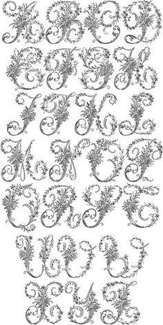 Lindas Letras formato Maiúsculo, floridas