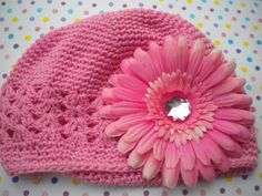 Reduced Easter hat  Pink crochet hat with by IsabellasHatsandBows, $10.00