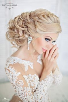 Bring the glamour to your wedding day look with this amazing collection stunning wedding hairstyle.