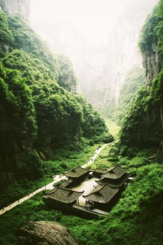 "Three Natural Bridges        Wulong County, Chongqing Municipality, China        One of Zhang Yimou's movie - ""The Curse of Golden Flower"" was shot there."