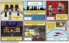 The Great Gatsby - Story Board of Plot