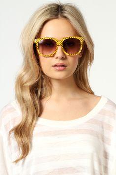 Penny Polka Dot Wayfarer Sunglasses