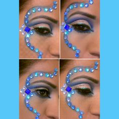 Carnival makeup with gems.