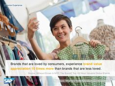 Brands loved by consumers appreciate in value 10 times more than less loved brands