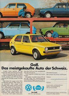 vongestern Blog: Golf (1978) Volkswagen Golf Mk1, Vw Mk1, Volkswagen Models, Audi, Porsche, Bugatti, Lamborghini, Golf 1, Retro Cars