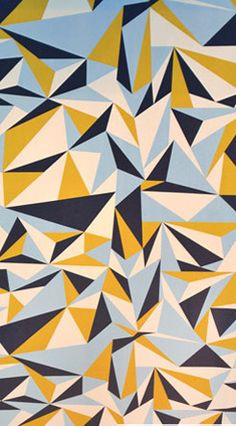 Lorna Syson design - http://lornasyson.co.uk Geometric, Triangles, Point, 3 Tones, Depth, Angles, Shapes, Pattern